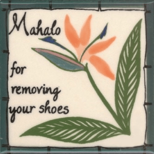 Bird-of-Paradise Remove Shoes Tile