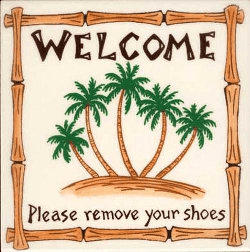Palm Welcome Shoes Tile
