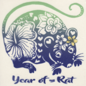 "Year of the Rat 4"" Tile"