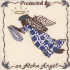 Aloha Angel Tile blue