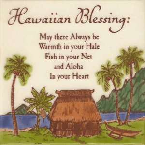 Hawaiian Blessing Tile