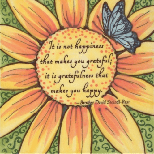 "Gratefulness Happiness 6"" Tile"