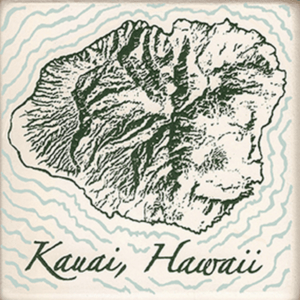 Island of Kauai Coasters