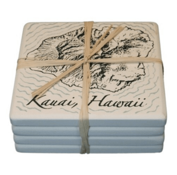 Island of Kauai Coasters set of 4