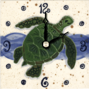 "Green Sea Turtle 4"" Clock"
