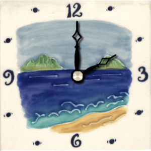 "Mokulua Islands 4"" Clock"