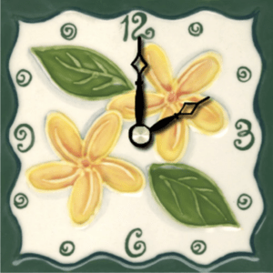 "Tropical Plumeria 4"" Clock"