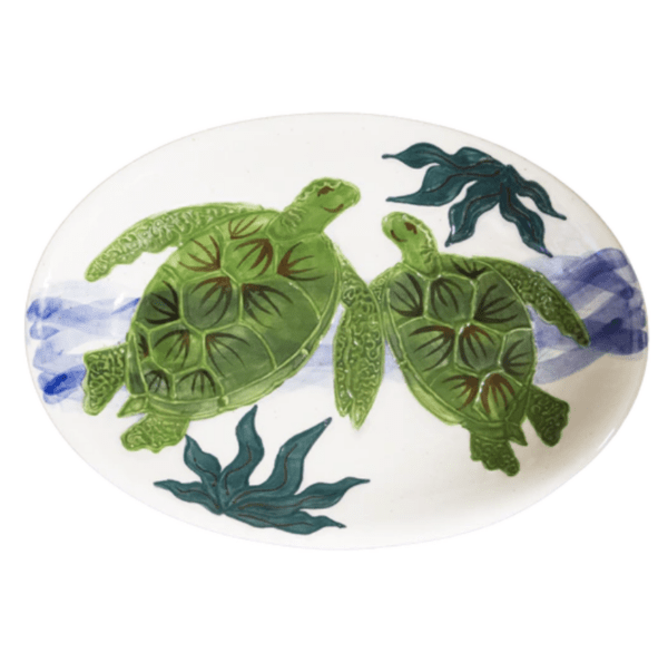 Oval Coupe Platter Embossed Honu (Turtle)