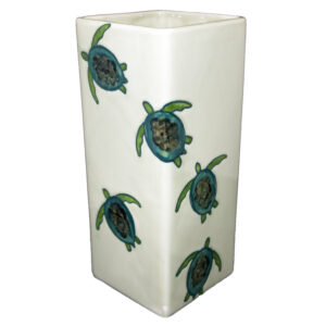 Celadon Turtles Square vase
