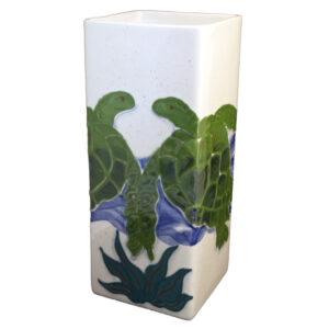 Embossed_Honu_square_vase