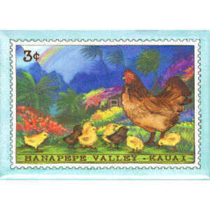 Hen & Chicks/Hanapepe Valley 3 Cent Stamp Magnet