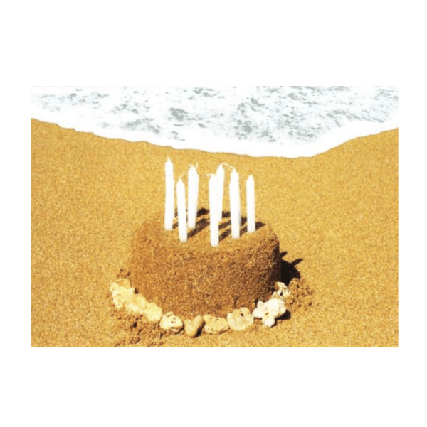 Happy Birthday Cake (Poipu Beach) Greeting Card