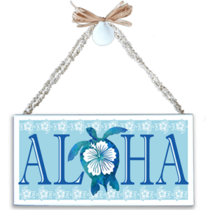 Aloha Honu (Turtle) Varnished Canvas Sign