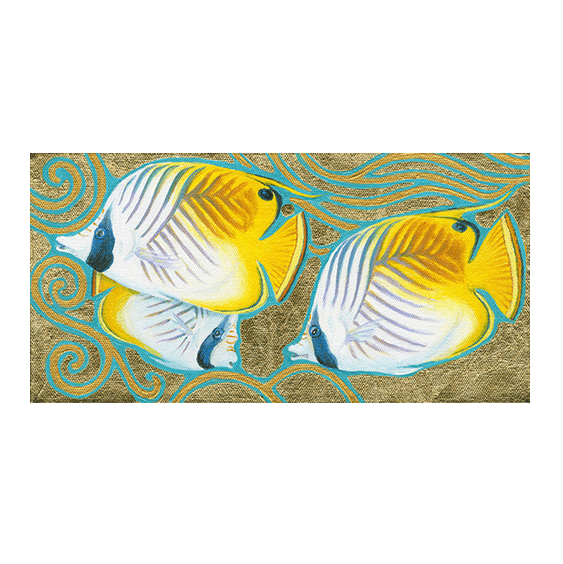 Butterflyfish in Gold Giclée