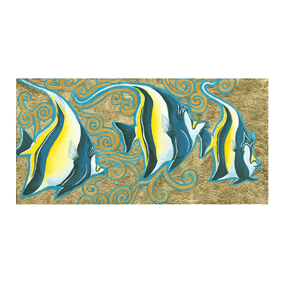Kihi-Kihi in Gold Giclée