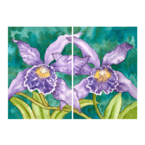 Orchid Pair Diptych Giclée