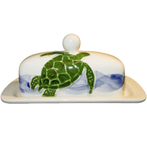 Embossed Honu Butter Dish
